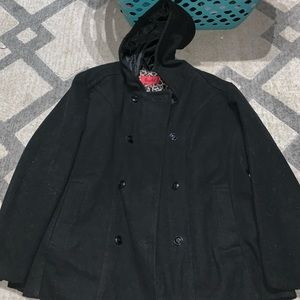 Plus size pea coat